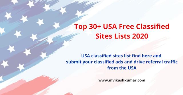 Top 30+ USA Free Classified Sites Lists 2020