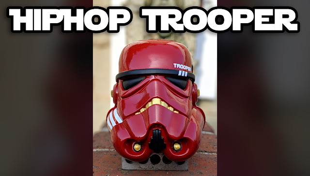 hiphop trooper mini helmet - nopalart