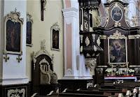 Woźniki - Klasztor Franciszkanów - w kościele - ambona i konfesjonał