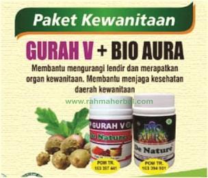 Gurah V dan Bioaura Paket kewanitaan kapsul