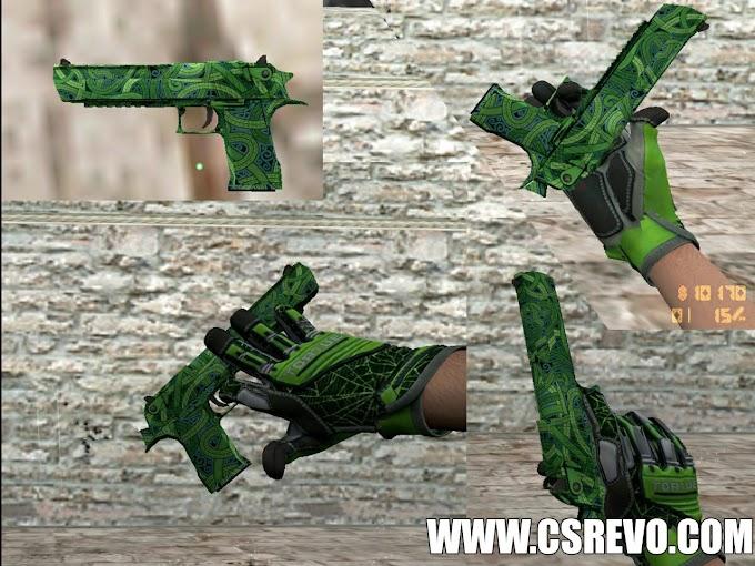 Skin Desert Eagle - Emerald Jormungandr (CS:GO) - HD para CS 1.6