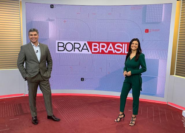 """Joel Datena e Thaís Dias apresentam o """"Bora Brasil"""" de segunda a sexta-feira"""