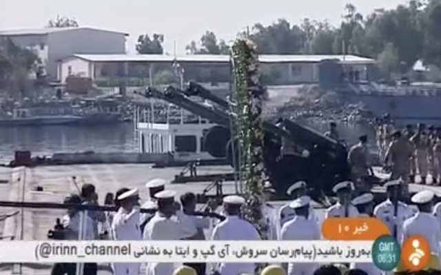 Iran navy launches stealth warship in the Gulf