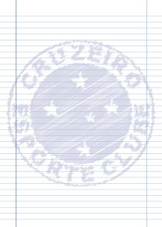 Papel Pautado do Cruzeiro rabiscado PDF para imprimir na folha A4