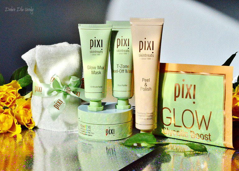 Pixi Skintreats - Peel & Polish, Glow Mud Mask oraz T-Zone Pell Off Mask