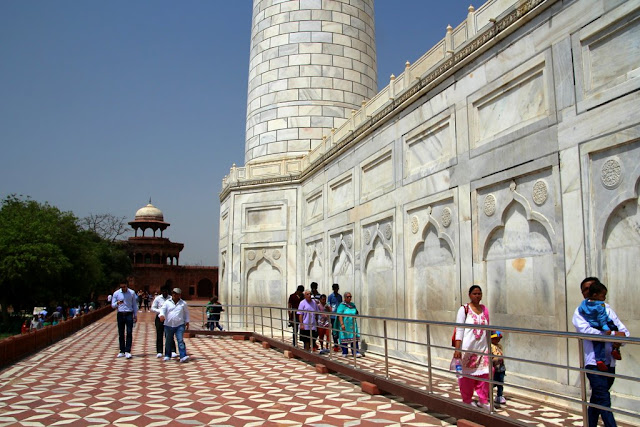 Visitors are able to walk around and through the Taj Mahal