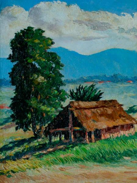 Paisaje con choza, 1944