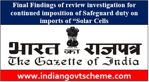 Final Findings of review investigation