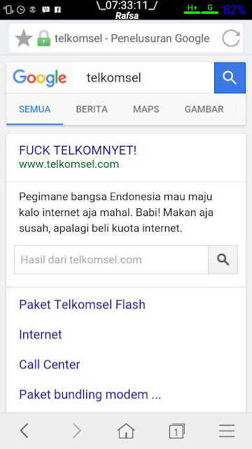 website telkomsel kena retas