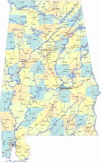 Gambar Peta Jalan Alabama