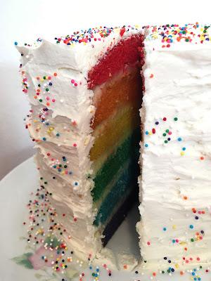 Gluten Free Rainbow Cake