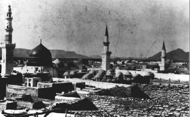 المسجد النبوي بالمدينة المنورة عام 1908م