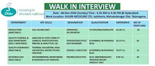 ITI/Diploma/Graduate Job Vacancy Walk In Interview For Shilpa Medicare Ltd