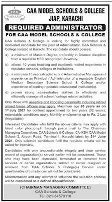 Pakistan civil Aviation authority, CAA JOBS 2021