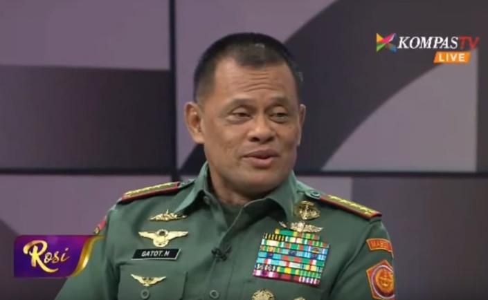 Panglima TNI Jenderal Gatot Nurmantyo di acara Rosi Kompas TV