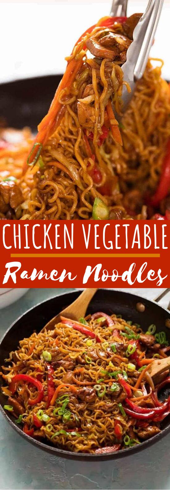Chicken Vegetable Ramen Noodles #dinner #noodles