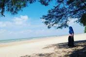 Pantai Lombang Dengan Pohon Cemara Udangnya Yang Rindang