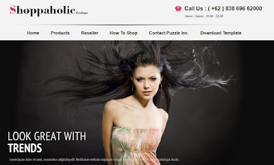 Shoppaholic Boutique Online Shopping Store Blogger Template