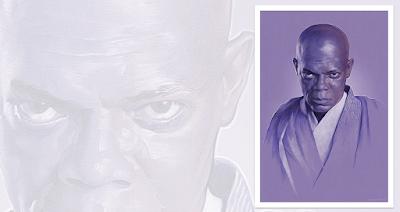 Star Wars Mace Windu Giclee Print by Gabz x Bottleneck Gallery