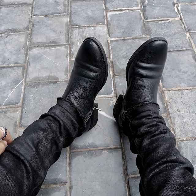 WALKER 822z - WALKER SPIRAL ZIP BOOTS 822 with VEIN in BLACK
