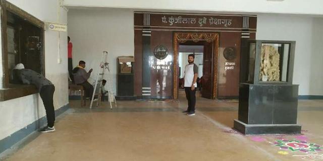 RDVV: राष्ट्रपति के लिए तैयार हो रहा है लाखों रुपए का ग्रीन रुम  | JABALPUR NEWS