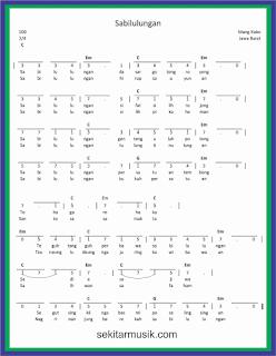 not angka sabilulungan lagu daerah jawa barat