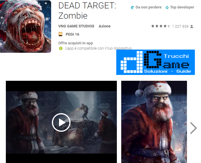 Trucchi DEAD TARGET Zombie Mod Apk Android v2.6.7