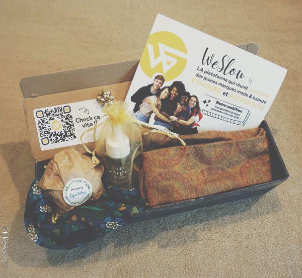 La box découverte éthique mode et beauté WeSlow