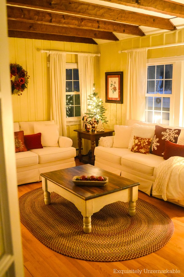 Peeking Into Christmas Living Room