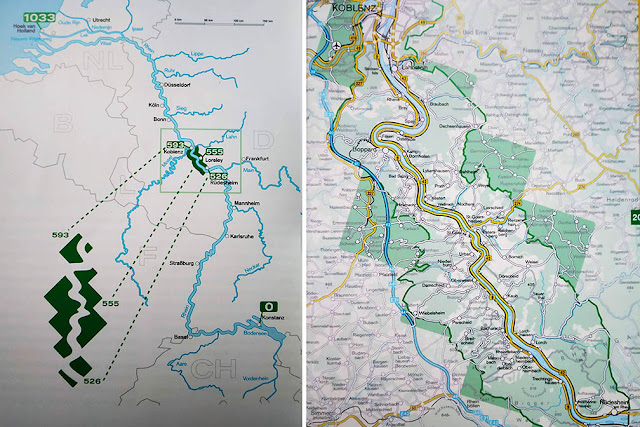 Upper Middle Rhine Valley, Rhine River Map