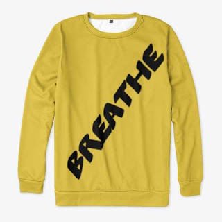 Breathe All-over Print Sweatshirt Yellow