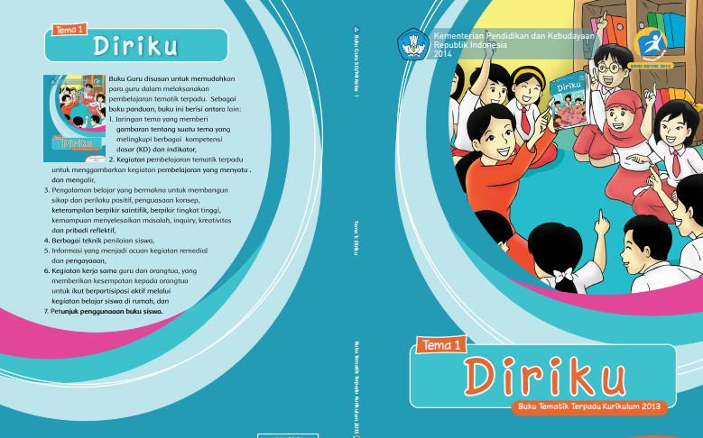 Download Buku Tematik Kurikulum 2013 SD/MI Kelas 1 Tema 1 Diriku Edisi Revisi Format PDF