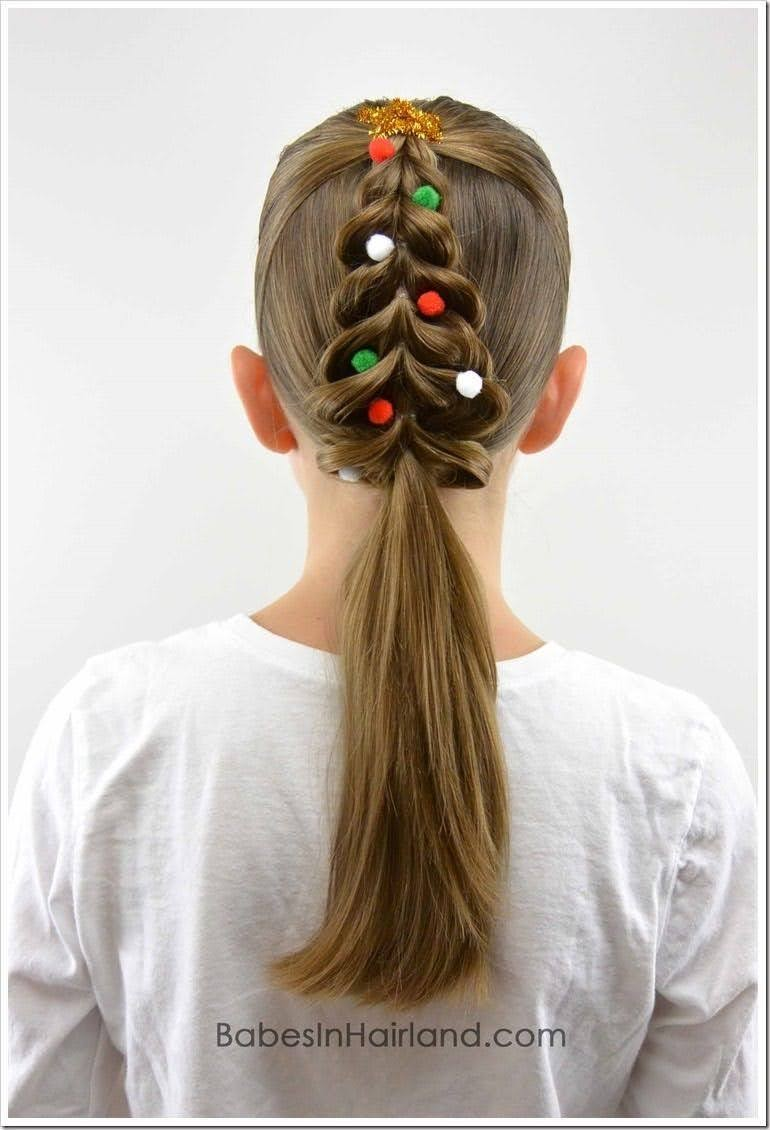 kids Christmas hair