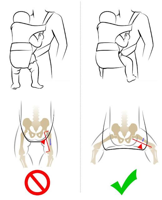 Come riconoscere se un marsupio è ergonomico o no