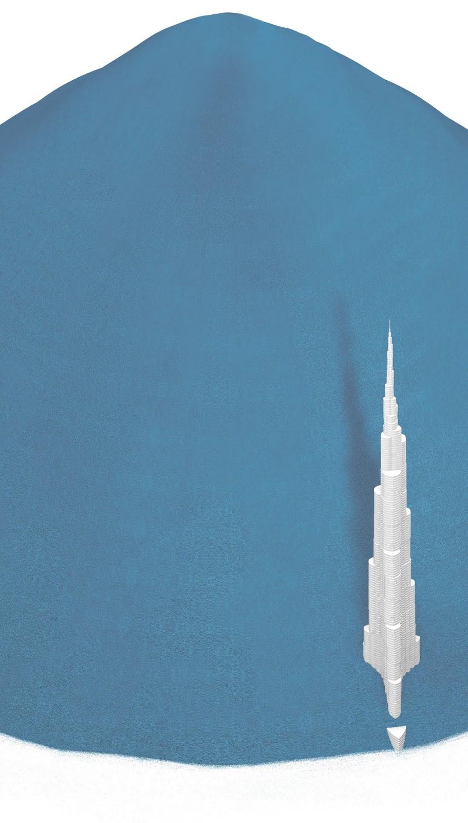 Plastic bottles and Burj Khalifa