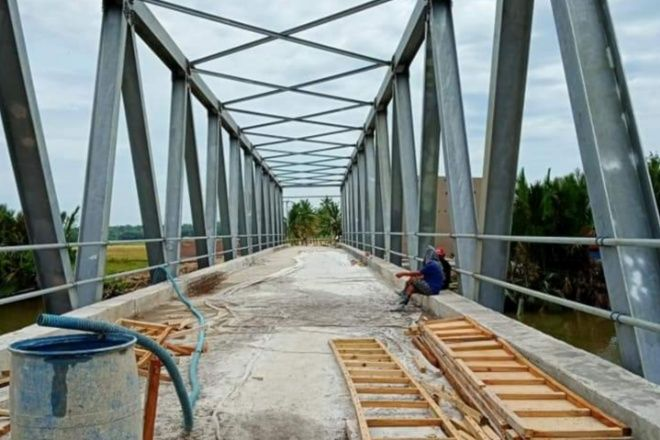 Pembangunan Jembatan Watu Segera Rampung