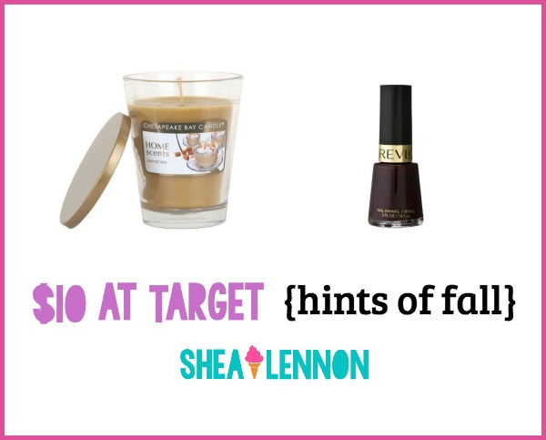 "With $10 ""fun money"" to Target I decided to go for a couple of things that would add hints of fall to my life. Click through for details on what I bought."