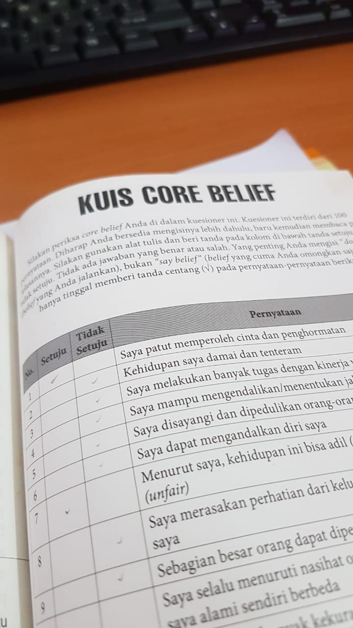 Core Belief Tes versi Rhenald Kasali