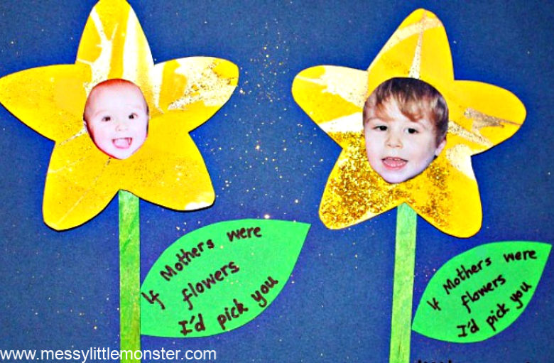Daffodil Mother's Day Craft for kids to make