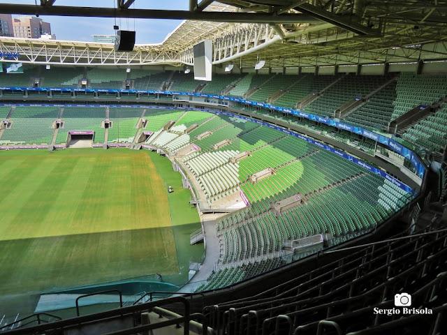 Vista de parte das arquibancadas do Allianz Parque - Barra Funda - São Paulo