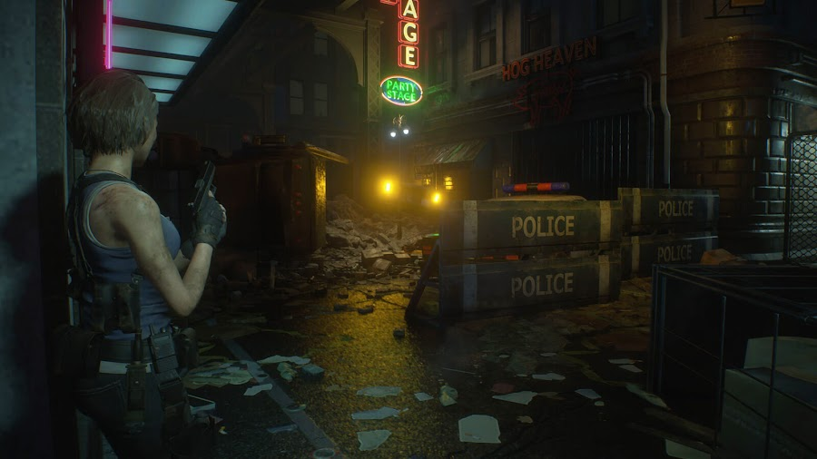 resident evil 3 remake screenshot image jill valentine raccoon city explore