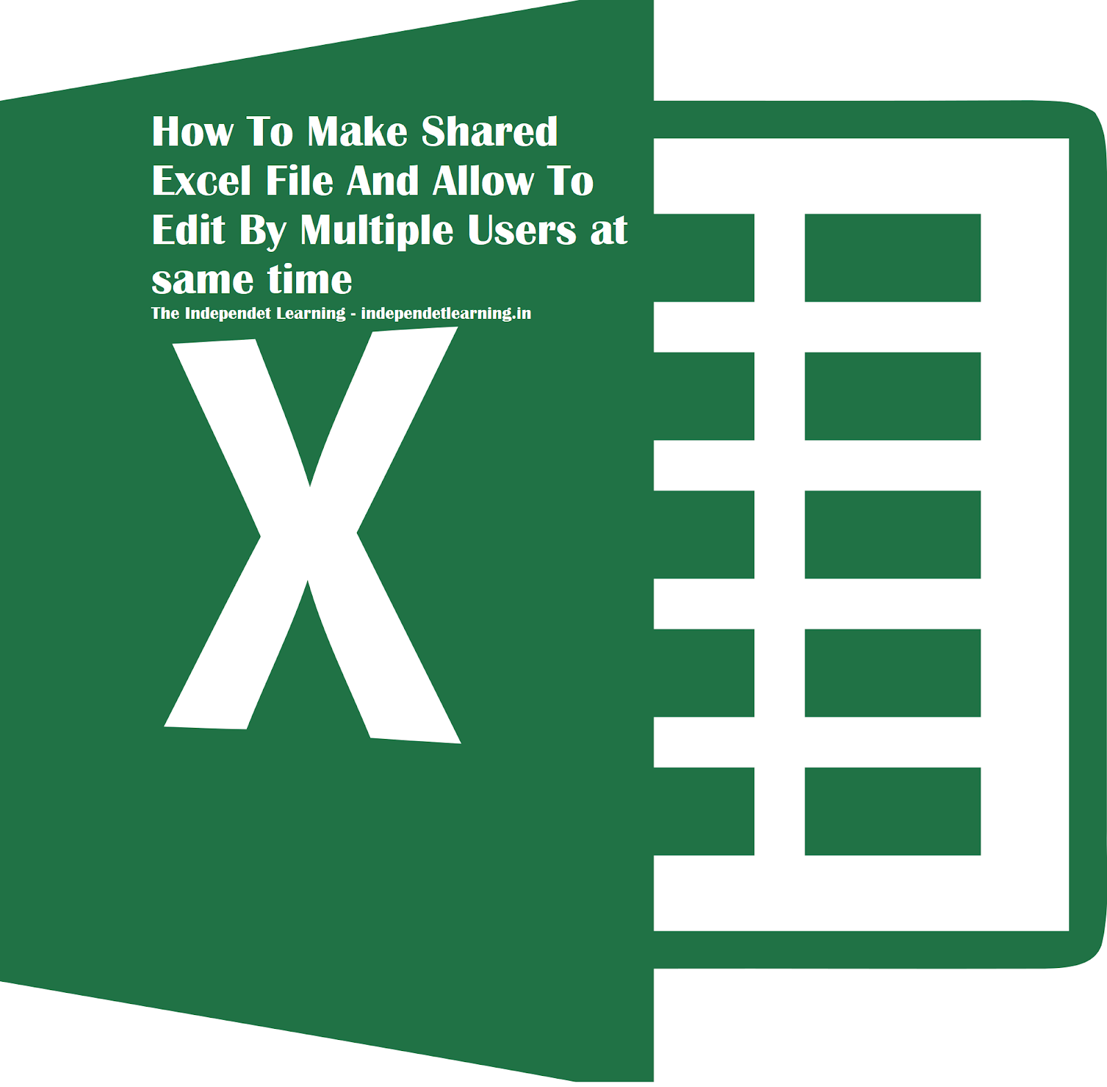 How To Make Shared Excel File or sheet And Allow To Edit By Multiple Users - No VBA, No  Software, without internet, how can two users work on single excel file or sheet at a time, How to Make Excel file or sheet Allow Multiple Users, Excel file or sheet sharing, how to track edits or and updates in ms excel file or sheet or worksheet, excel tips, top excel tips, excle file or sheet or worksheet sharing, multiple user editing in excel, edit or updates tracking in excel file or sheet or worksheet without vba or macro or code, how to create  shared excel file 2013 or 2007 or 2010, without internet, how to setup a shared excel file, how to make a shareable excel file, how to make an excel document a shared file, allow excel file oe sheet or worksheet to be edited by multiple users offline, offline excel file edit by multiple person or user, without internet
