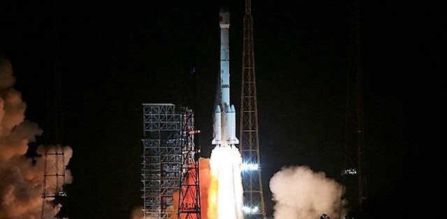 Liftoff of the Long March 3B with TJS-2. Photo Credit: zf.81.cn