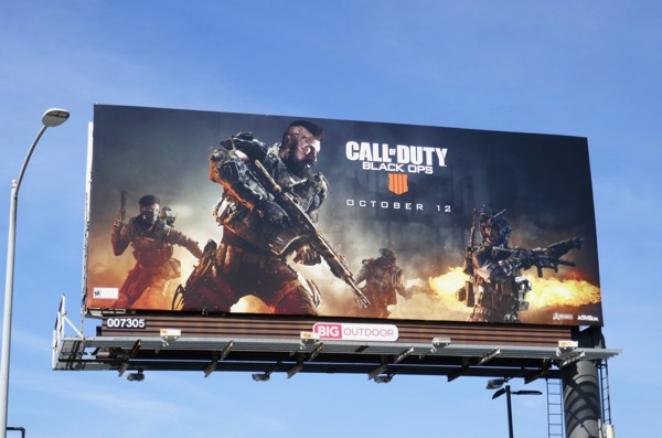 Call of Duty Black Ops 4 game billboard