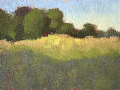 mini painting color study grasses and trees in the park May 27 2019