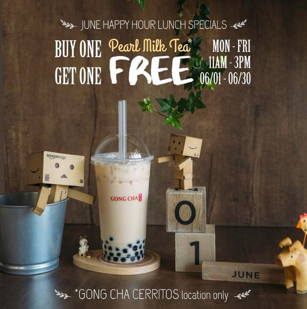 All June | Gong Cha Cerritos Offers BOGO Free Drinks