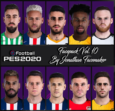 PES 2020 Facepack Vol 10 by Jonathan Facemaker