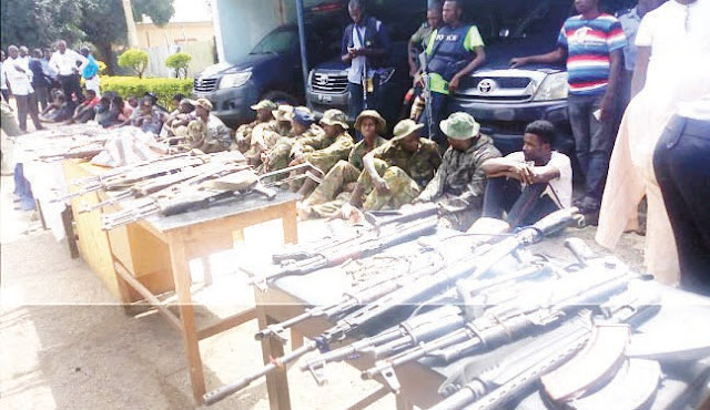 50 kidnap, robbery suspects paraded in Kaduna
