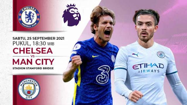 Link Live Streaming Liga Inggris : Chelsea vs Manchester City