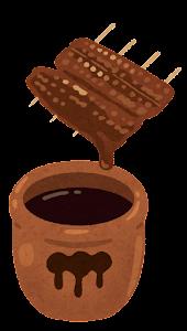 秘伝のタレのイラスト(鰻の蒲焼き)